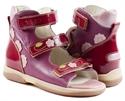 Picture of Memo Vicky 3JE Dark Pink Toddler Girl Orthopedic Velcro Sandal
