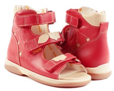 Picture of Memo Bellona 3HA Red Toddler Girl Orthopedic Velcro Sandal