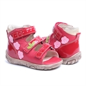 Picture of Memo Dino 3HA Red  Infant & Toddler Girl & Boy First Walking Orthopedic Velcro Sandal