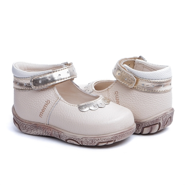 Picture of Memo Fiona 3FD Beige Infant & Toddler Girl First Walking Orthopedic Mary Jane Shoe