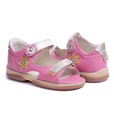 Picture of Memo Jaspis 3JB Pink Toddler Girl Orthopedic Velcro Sandal