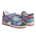 Picture of Memo  Szafir 1HA Navy Blue Nubuck Toddler Boy Orthopedic Velcro Sandal