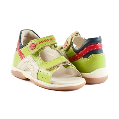 Picture of Memo Szafir 3EH Green Toddler Girl & Boy Orthopedic Velcro Sandal