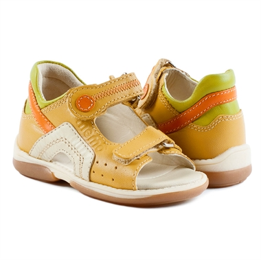 Picture of Memo Szafir 3MA Yellow Toddler Girl & Boy Orthopedic Velcro Sandal