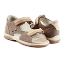 Picture of Memo Jaspis 1BE Brown Toddler Boy Orthopedic Velcro Sandal