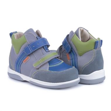Picture of Memo Polo Junior 3BC Gray Blue Green Toddler Girl & Boy Orthopedic Velcro Sneaker