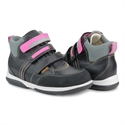 Picture of Memo Polo 3LJ Black Pink Girl Youth Orthopedic Velcro Sneaker