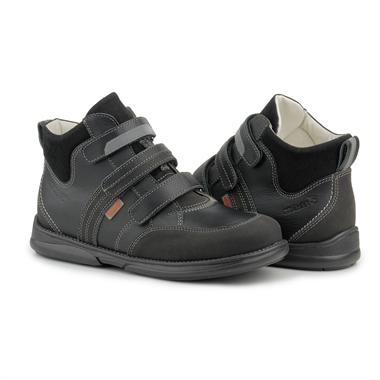 Picture of Memo Polo Junior 3LY Black Toddler Girl & Boy Orthopedic Velcro Sneaker