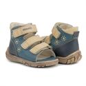 Picture of Memo Dino 3DA Navy Blue Infant & Toddler Boy First Walking Orthopedic Velcro Sandal