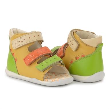 Picture of Memo Dino 3MA Yellow-Orange Infant & Toddler Girl & Boy First Walking Orthopedic Velcro Sandal