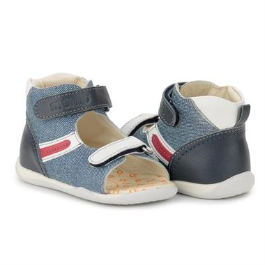 Picture of Memo MIKI 1HA Jeans Infant & Toddler Boy First Walking Orthopedic Velcro Sandal