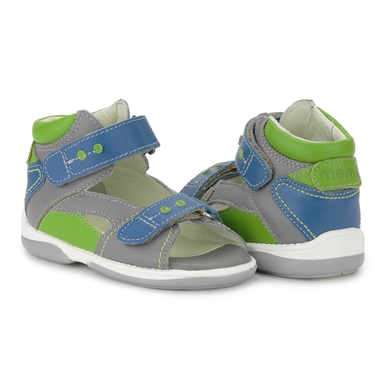 Picture of Memo Monaco 3BC Gray Blue Green Toddler Boy Orthopedic Velcro Sandal