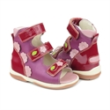 Picture of Memo Vicky 3JE Dark Pink Toddler Girl Orthopedic Velcro Sandal