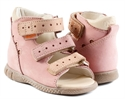 Picture of Memo Dino 1JB Pink Infant & Toddler Girl First Walking Orthopedic Velcro Sandal
