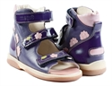 Picture of Memo Vicky 3NA Purple Pink Toddler Girl Orthopedic Velcro Sandal