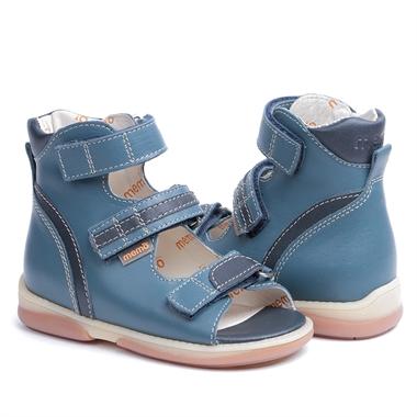 Picture of Memo Virtus 3CH Jeans-Navy Blue Toddler Boy Orthopedic Velcro Sandal