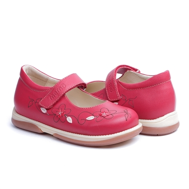 Picture of Memo  Cinderela 3HA Red Youth Orthopedic Mary Jane Shoe