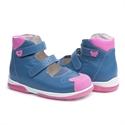 Picture of Memo Princessa 3DA Navy Blue Toddler Girl Orthopedic Mary Jane Shoe