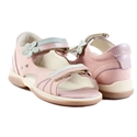 Picture of Memo Jaspis 1JB Pink-Blue Toddler Girl Orthopedic Velcro Sandal