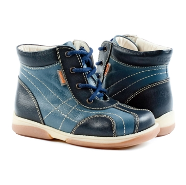 Picture of Memo  Agat 3CH Navy Blue Toddler Boy Orthopedic Lace Up Boot