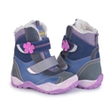 Picture of Memo  Aspen 1JB Pink Navy Blue Toddler Girl Leather Warm Lined Orthopedic Snow Boot
