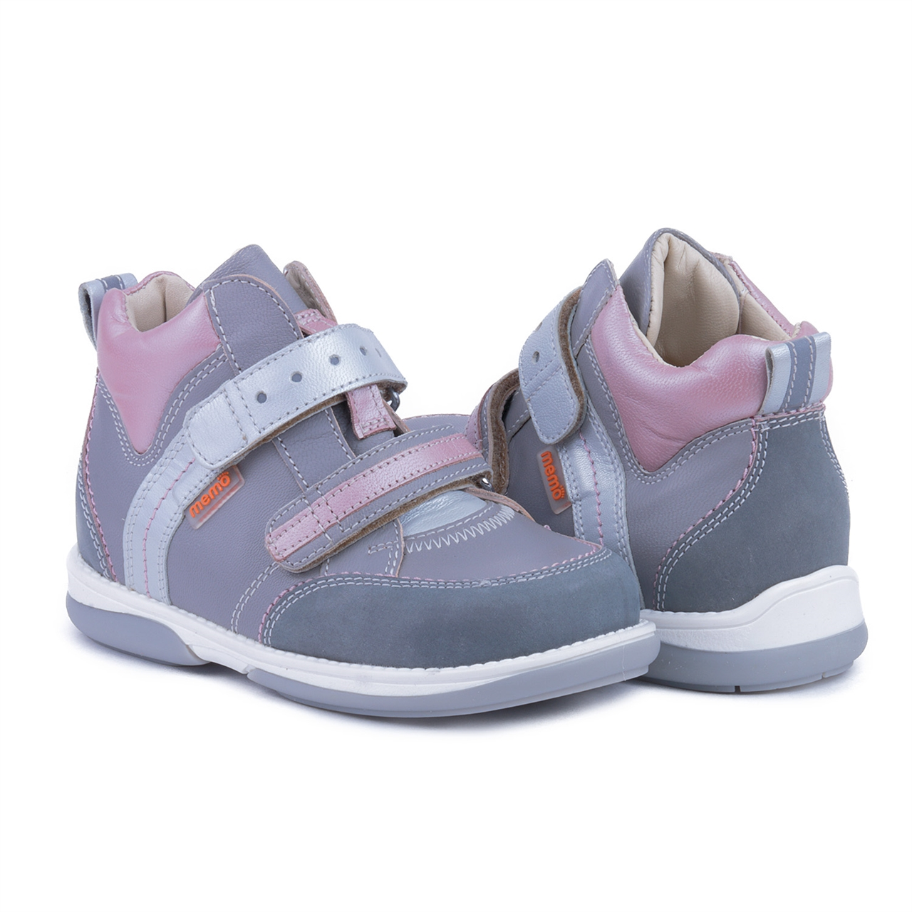 Pink And Orange Leather Kids Shoes S