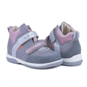 Picture of Memo Polo Junior 3JD Gray-Pink Toddler Girl Orthopedic Velcro Sneaker