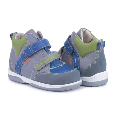 Picture of Memo Polo Junior 3BC Gray Blue Green Toddler Girl & Boy Orthopedic Velcro Sneaker