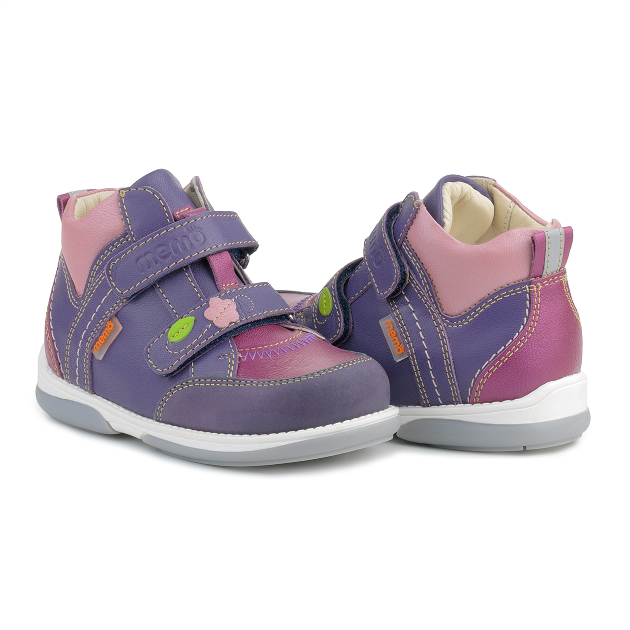 Memo Shoes Memo Polo 3JE Pink Purple Toddler Girl