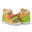 Picture of Memo Dino 3MA Yellow-Orange Infant & Toddler Girl & Boy First Walking Orthopedic Velcro Sandal