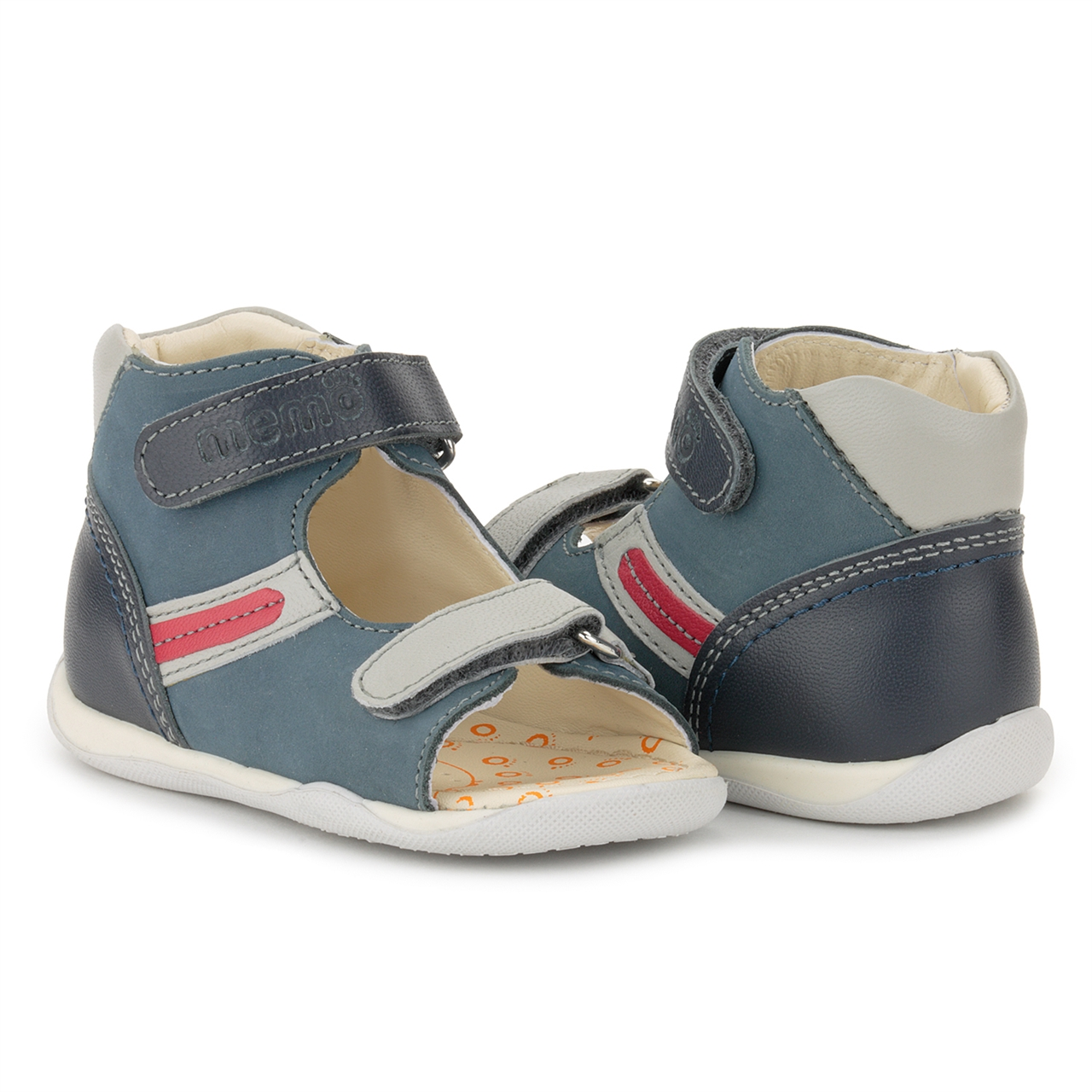 9e17a87dfaba Picture of Memo MIKI 1CH Blue Infant   Toddler Boy First Walking Orthopedic  Velcro Sandal ...