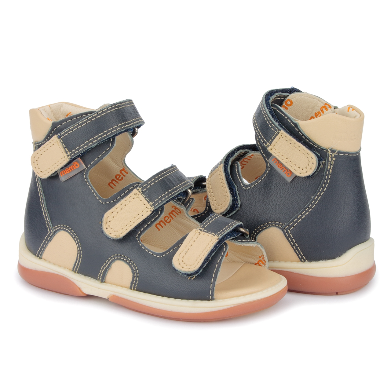1c08c459d7a7 Picture of Memo Apollo 3DA Black Toddler Boy Orthopedic Velcro Sandal ...