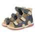 Picture of Memo Apollo 3DA Black Toddler Boy Orthopedic Velcro Sandal