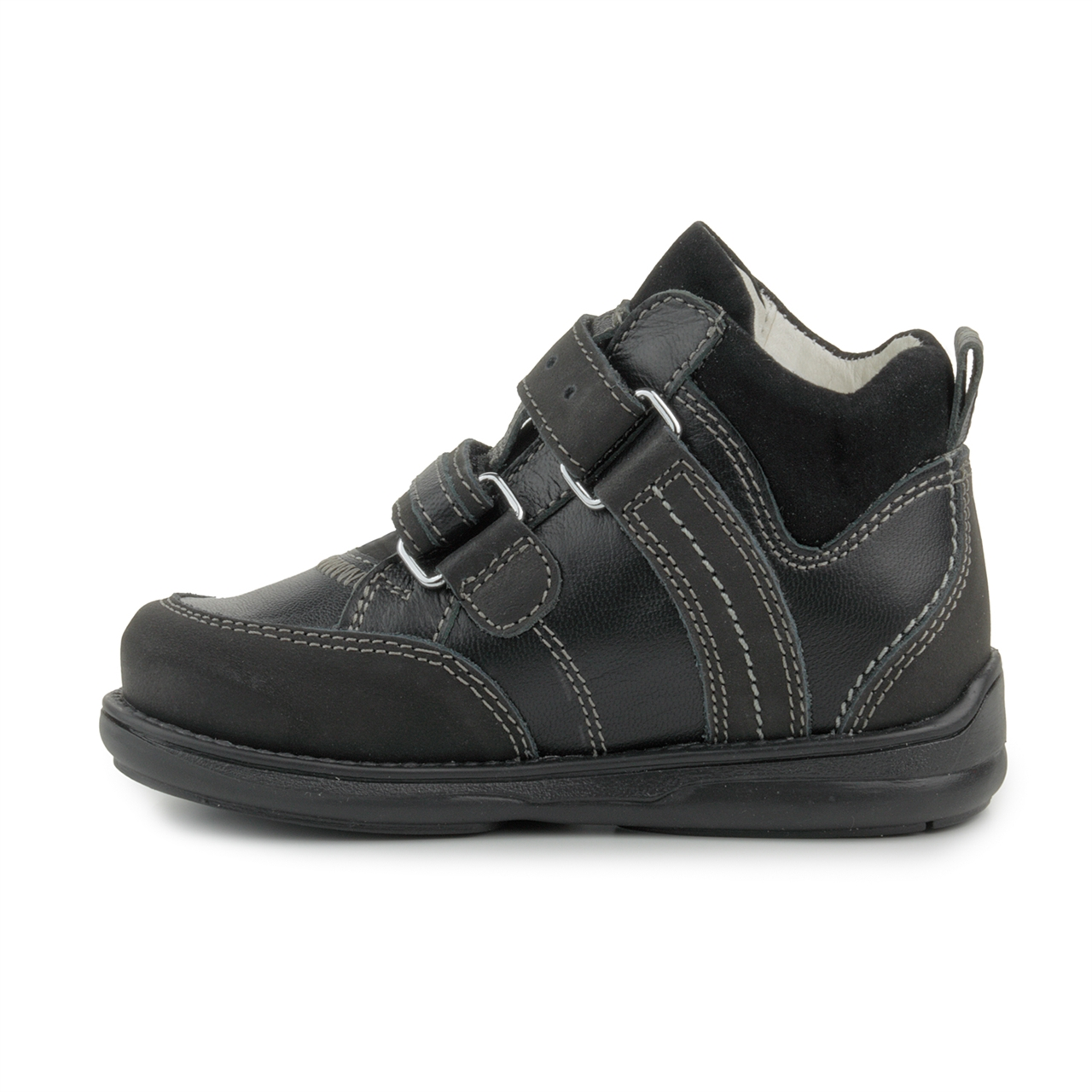 All Black Velcro Toddler Shoes