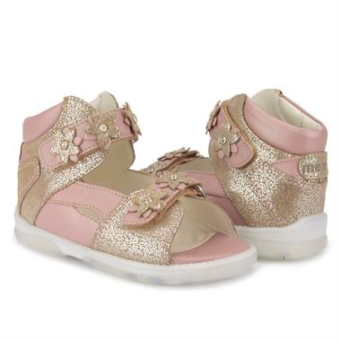 Picture of Memo Monaco 3FD Salmon Toddler Girl Orthopedic Velcro Sandal