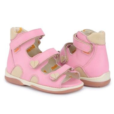 Picture of Memo Atena 3JB Pink Toddler Girl Orthopedic Velcro Sandal