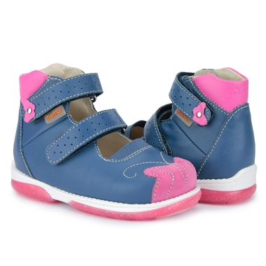 Picture of Memo Princessa 3DA Navy Blue Toddler Girl Orthopedic Mary Jane Shoe