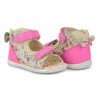 Picture of Memo MINI 1JB Pink Infant & Toddler Girl First Walking Orthopedic Velcro Sandal