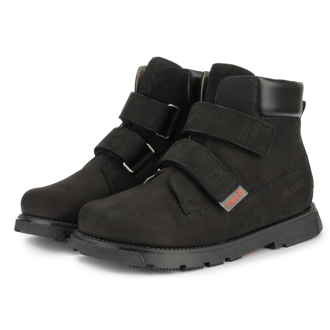 Memo Shoes Memo Malmo Black Corrective Orthopedic Ankle