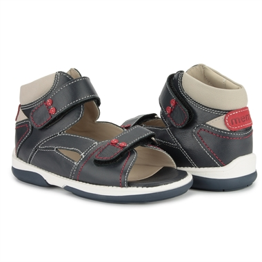 Picture of Memo Monaco 3DA Navy Blue Toddler Boy Orthopedic Velcro Sandal