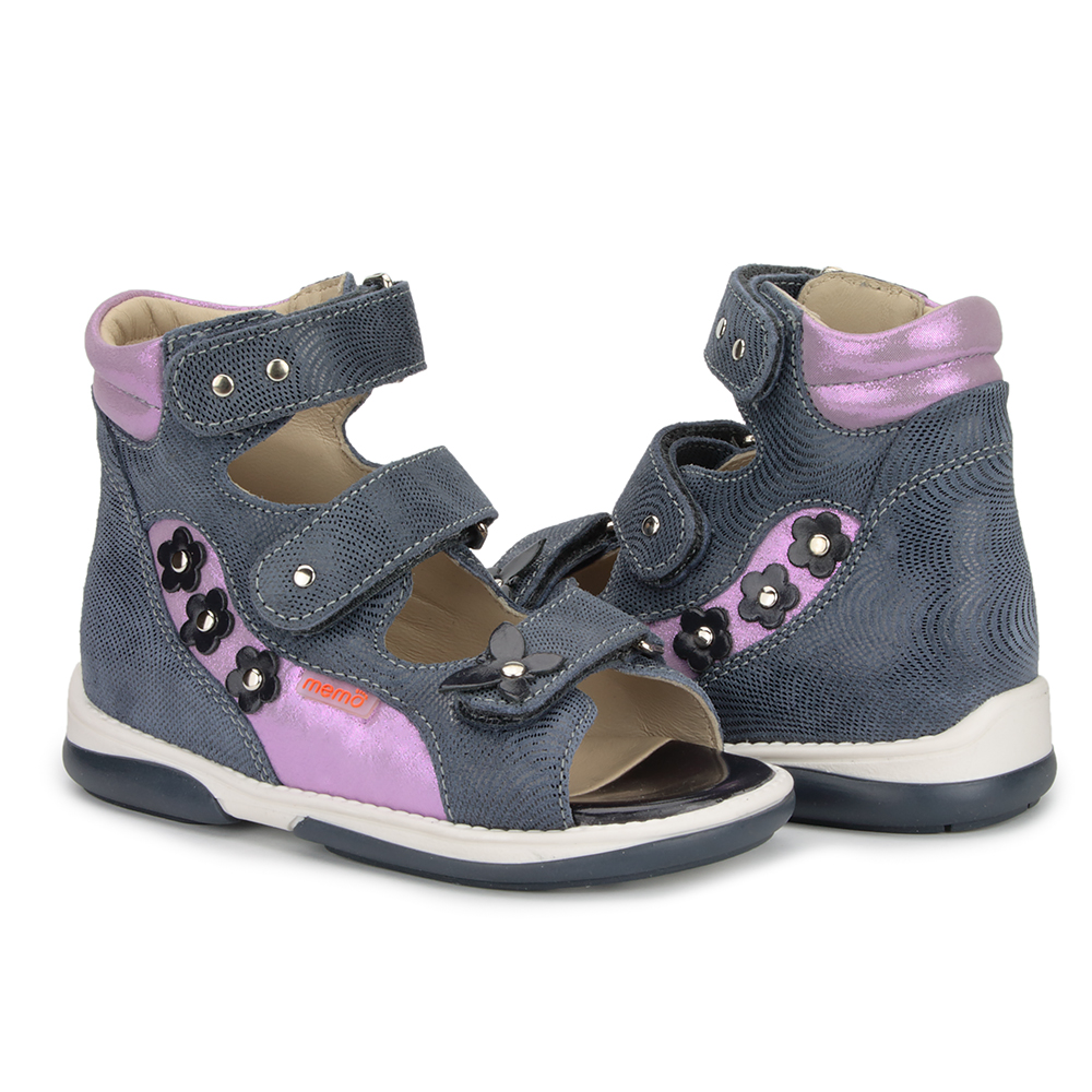 8ec6370526 Picture of Memo Agnes Navy Blue Toe Walkers Correcting Sandal For Orthopedic  Inserts And Ankle Support ...