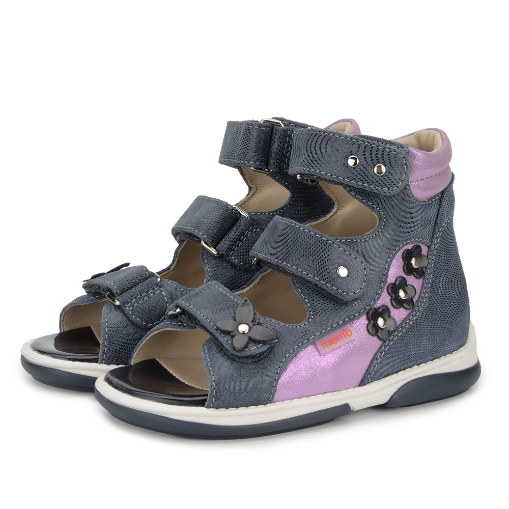 75e2297795 ... Picture of Memo Agnes Navy Blue Toe Walkers Correcting Sandal For  Orthopedic Inserts And Ankle Support ...