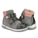 Picture of Memo ALEX 1JD Toddler Girl Corrective Orthopedic Grey Pink Boot