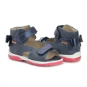 Picture of Memo Juliet Supportive SMO Brace-Like Orthopedic Sandal, Navy Blue